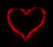 Decorative red heart Stock Image