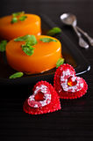 Decorative red hearts Stock Image