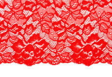 Decorative red lace Royalty Free Stock Photography