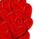 Decorative red love hearts Stock Photography