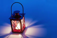 Decorative Red Metal Lantern Royalty Free Stock Photos