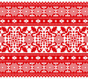 Decorative red ornament Stock Images