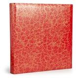 Decorative red photo album with patina cracks texture Royalty Free Stock Photos