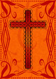 Decorative red religious cross Stock Images