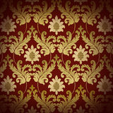 Decorative red renaissance background Royalty Free Stock Image