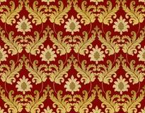 Decorative red renaissance background Stock Photo