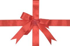 Decorative red ribbon royalty free stock images