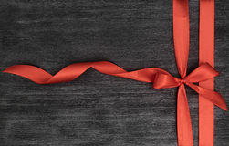 Decorative red ribbon and bow Royalty Free Stock Photo