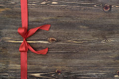 Decorative red ribbon and bow Royalty Free Stock Images