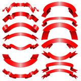 Decorative red ribbons Royalty Free Stock Photo