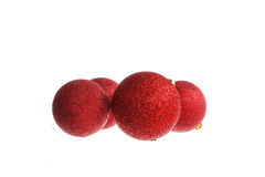 Decorative red round ball ornaments  for Christmas tree Royalty Free Stock Images