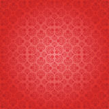 Decorative red seamless wallpaper, vector illustra Stock Image