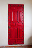 Decorative red wood door Royalty Free Stock Photo