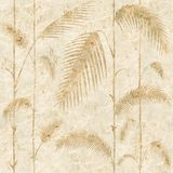 Decorative reed leaves - Interior wallpaper royalty free illustration