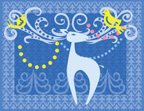Decorative reindeer Royalty Free Stock Images