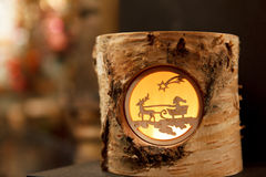 Decorative Reindeer Stump Stock Image
