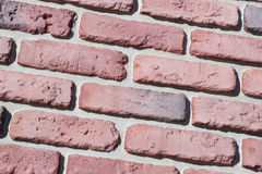 Decorative relief cladding slabs imitating bricks Royalty Free Stock Images