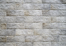 Decorative relief cladding slabs imitating stones on wall Royalty Free Stock Photography