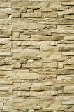 Decorative relief cladding slabs imitating stones on wall Royalty Free Stock Image