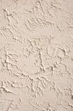 Decorative relief ecru plaster closeup Stock Photo