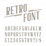 Decorative retro alphabet vector font. Royalty Free Stock Photography