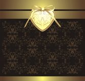Decorative retro background with heart and bow Royalty Free Stock Photo