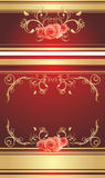 Decorative retro background with roses Stock Images