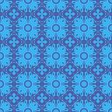 Decorative Retro Blue Seamless Pattern Royalty Free Stock Photos