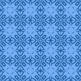 Decorative Retro Blue Seamless Pattern Royalty Free Stock Images