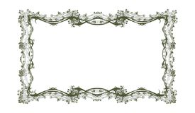 Decorative  retro floral frame. Retro floral frame ,vector illustration Stock Photography