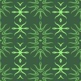 Decorative Retro Green Seamless Pattern Stock Photography