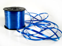 Decorative ribbon. Unravelled decorative blue ribbon Royalty Free Stock Photography