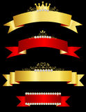 Decorative ribbon banners Royalty Free Stock Photo