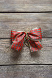 Decorative ribbon on the boards Royalty Free Stock Images