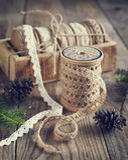Decorative ribbon. Stock Photos