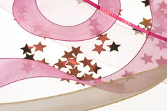 Decorative Ribbon And Stars Royalty Free Stock Photography