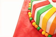 Decorative Ribbons on Birthday Cake Stock Images