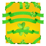 Decorative Ribbons Shamrock Royalty Free Stock Images