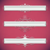 Decorative ribbons Stock Photography