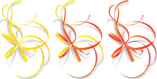 Decorative ribbons, vector vector illustration