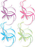 Decorative ribbons, vector Stock Photos