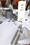 Decorative romantic table setting Stock Photo