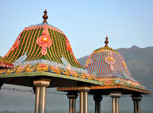 Decorative roof. Detail of decorative roof with bross beam Royalty Free Stock Photography