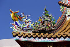 Decorative roof of the chinatown Stock Photo