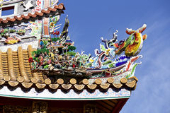 Decorative roof of the chinatown Stock Photography