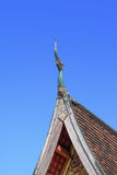 Decorative roof detail. Beautiful decorative roof detail at  Temple Stock Photo