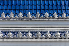 Decorative roof tiles in Thailand Royalty Free Stock Image