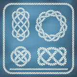 Decorative rope knots Stock Photo