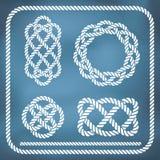 Decorative rope knots. Decorative nautical rope knots. Gradient mesh Stock Photo