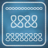 Decorative rope knots Stock Images